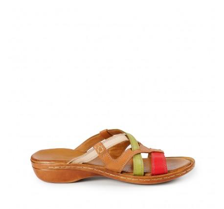 Hakiki Deri Kadın Sandalet, Terlik